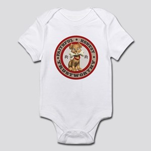 """Year of the Dog [Red & Brown Infant Bodysuit"